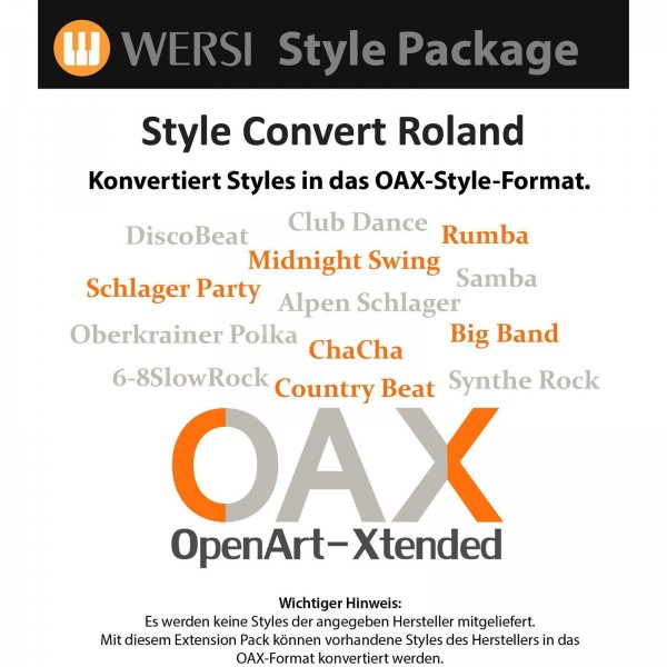 OAX Style Konvertierung Roland