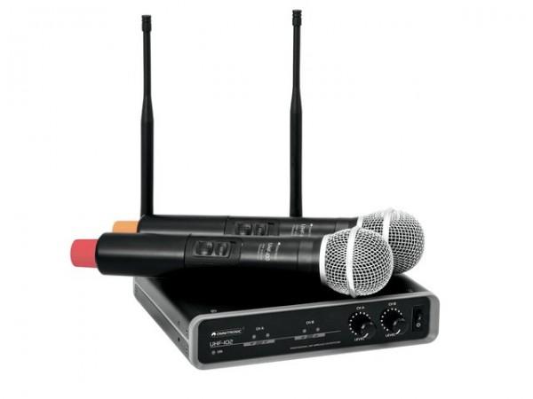 OMNITRONIC UHF-102 Funkmikrofon-System 828.1/864.8MHz