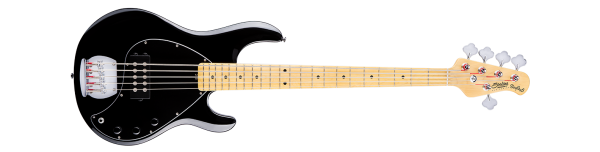 Sterling Ray-5 Bassgitarre, 5-saiter, schwarz