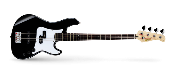 Cort GB14 Bassgitarre, 4-saiter, schwarz