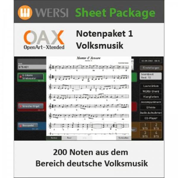 OAX Notenpaket 1 Deutsche Volksmusik
