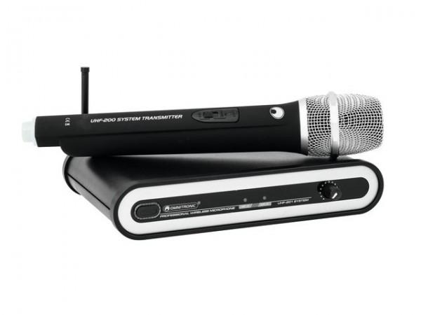 OMNITRONIC UHF-201 Funkmikrofon-System 830.900MHz