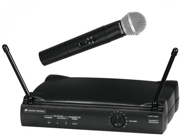 OMNITRONIC VHF-250 Funkmikrofonset 214MHz