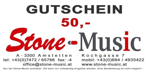 Gutschein € 50,- Stone-Music