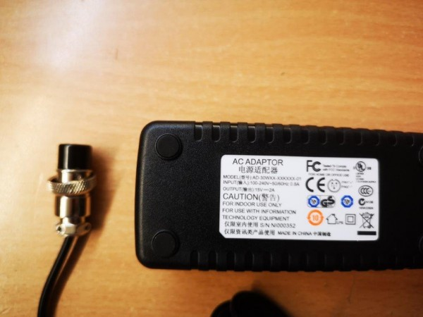 Netzteil 15V DC, 2000mA