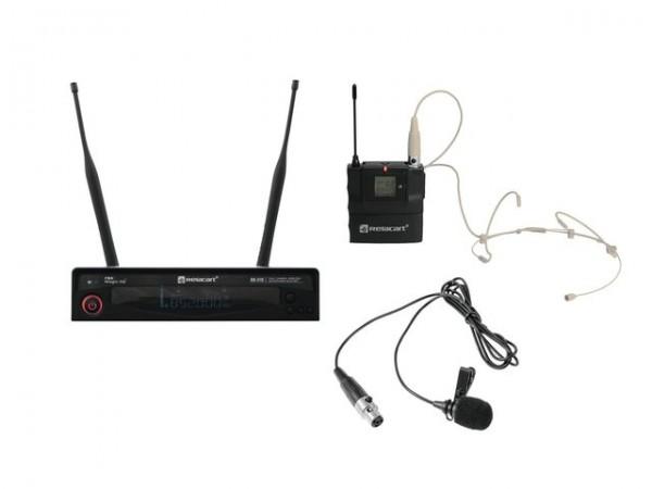 RELACART Set HR-31S Bodypack mit Headset und Lavalier