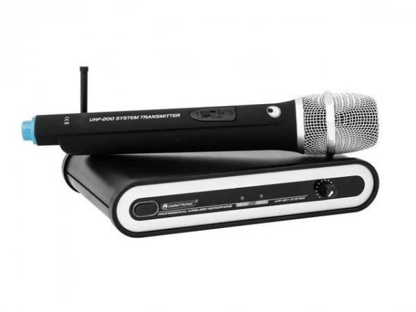 OMNITRONIC UHF-201 Funkmikrofon-System 864.990MHz