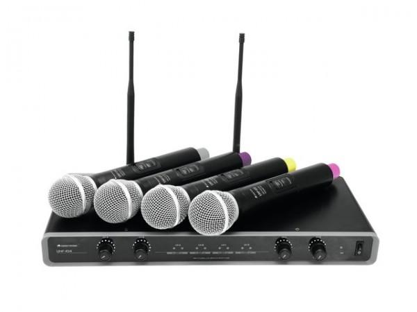 OMNITRONIC UHF-104 Funkmikrofon-System 823.5/825.3/863.1/864.1MHz