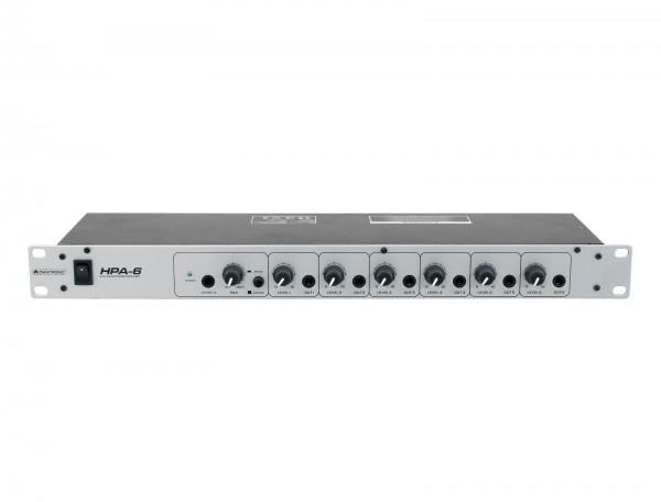 Omnitronic HPA-6 Kopfhörer Verstärker 6-fach