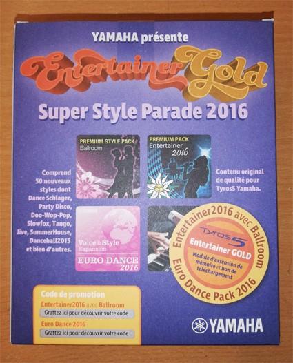 Yamaha Entertainer Gold Software Pack für Tyros 5