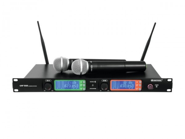 OMNITRONIC UHF-502 2-Kanal-Funkmikrofonsystem 823-832MHz