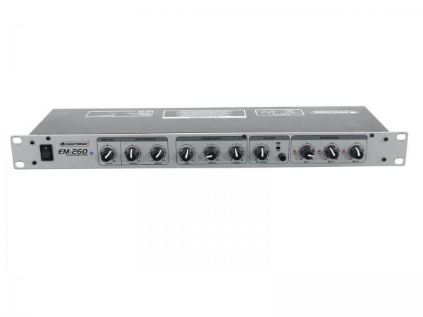 OMNITRONIC EM-260 6-Kanal-Mikrofon-Line-Mischer, Vorführgerät, wie neu !