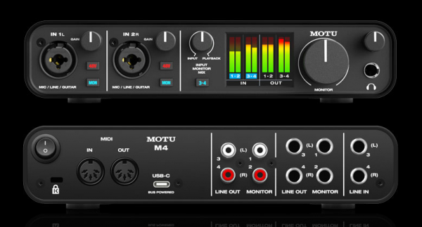 Motu 4 - 4-In/4-Out USB-Audio-Interface