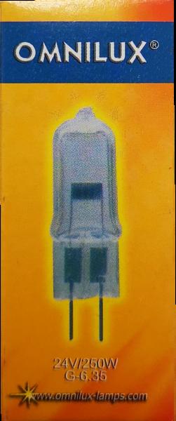 LAMPE 24V 250W GX6.35 FÜR LICHTEFFEKTE