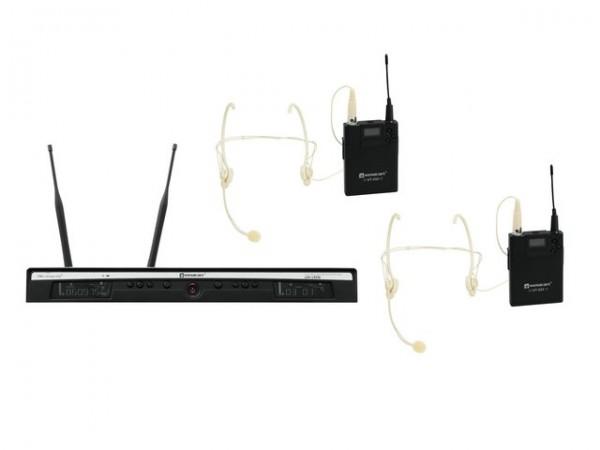 RELACART Set UR-260D Bodypack mit Headset