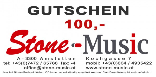 Gutschein € 100,- Stone-Music