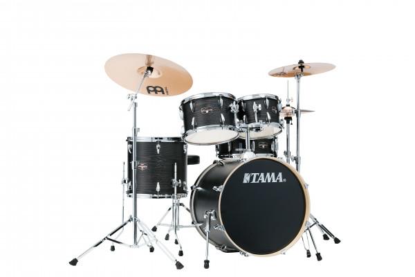 "Tama Drumset Imperialstar, 20"", Black Oak Wrap/Chrom Hardware"