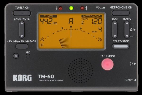 KORG Stimmgerät - Metronom, TM-60, schwarz