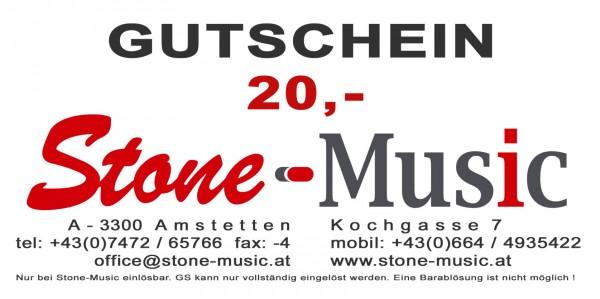 Gutschein € 20,- Stone-Music