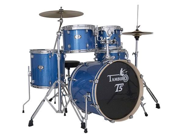 """Tamburo Drum-Set T5, blau oder schwarz, 20"""""""