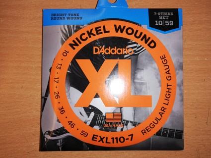 D'Addario EXL-110-7 Saitensatz 010-059 für E-Gitarre