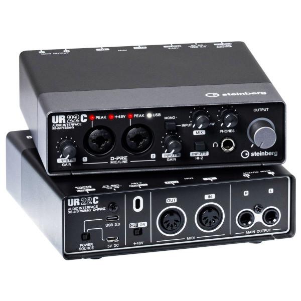 Steinberg UR22C 2-Kanal USB 3.0 Audiointerface mit iPad Konnektivität