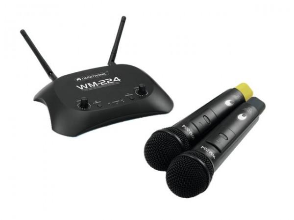 OMNITRONIC WM-224 2-Kanal-Funkmikrofonsystem 2.4GHz