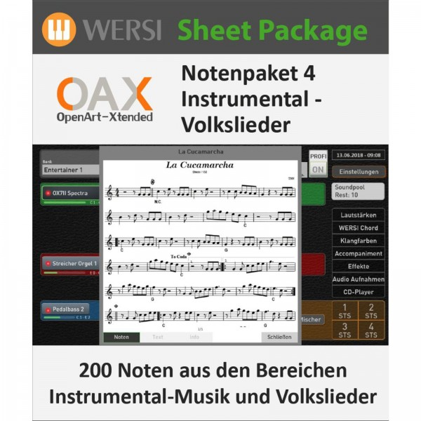 OAX Notenpaket 4 Instrumental - Volkslieder