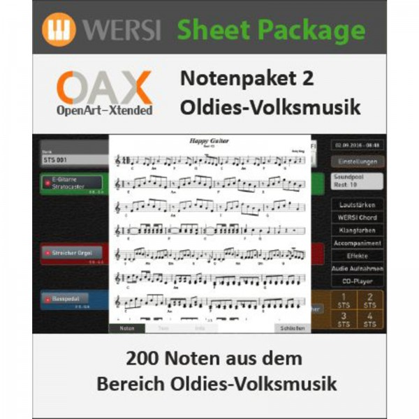 OAX Notenpaket 2 Deutsche Oldies + Volksmusik