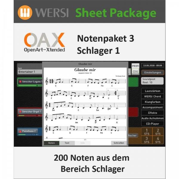 OAX Notenpaket 3 Schlager 1