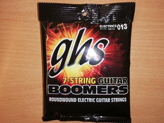 GHS E-Gitarren Saitensatz 7-Saiter, 013-074